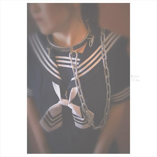 セーラー服と首輪と手錠 コスプレ調教・制服奴隷