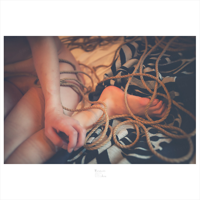 麻縄緊縛の縄痕。消えてしまうのがもったいない 緊縛奴隷・緊縛調教