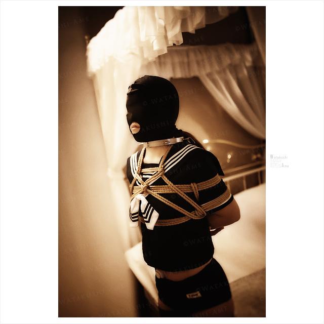 セーラー服ブルマに全頭マスクのM女をSM調教。 コスプレ調教・制服奴隷