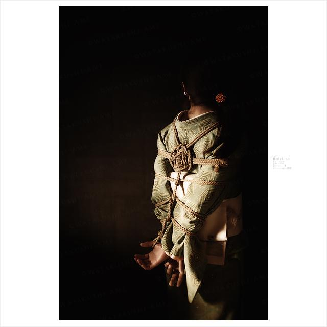 着物と緊縛。素人M女を和装で後手縛り。 緊縛奴隷・緊縛調教