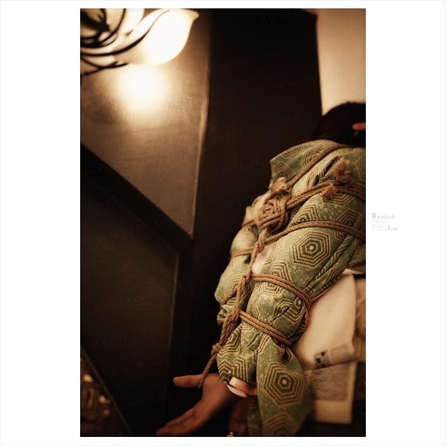 和装で麻縄緊縛。やっぱり和服M女には緊縛がよく似合う。 緊縛奴隷・緊縛調教