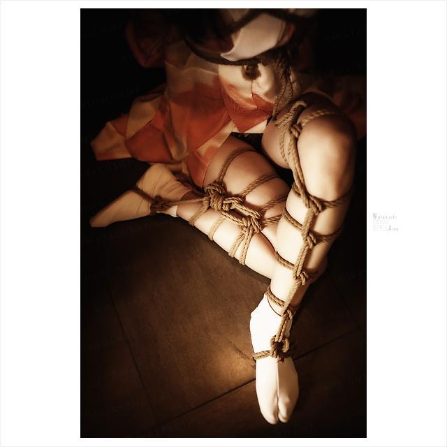 フォトショップで画像加工。和装緊縛されるSM奴隷 独り言
